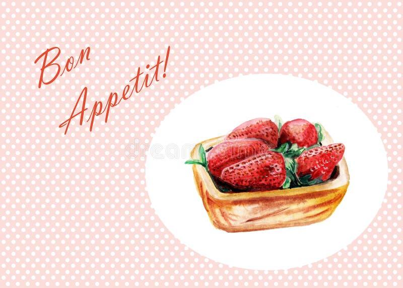 Hand gezeichnete Süßspeisepfannkuchen - Bon Appetit vektor abbildung