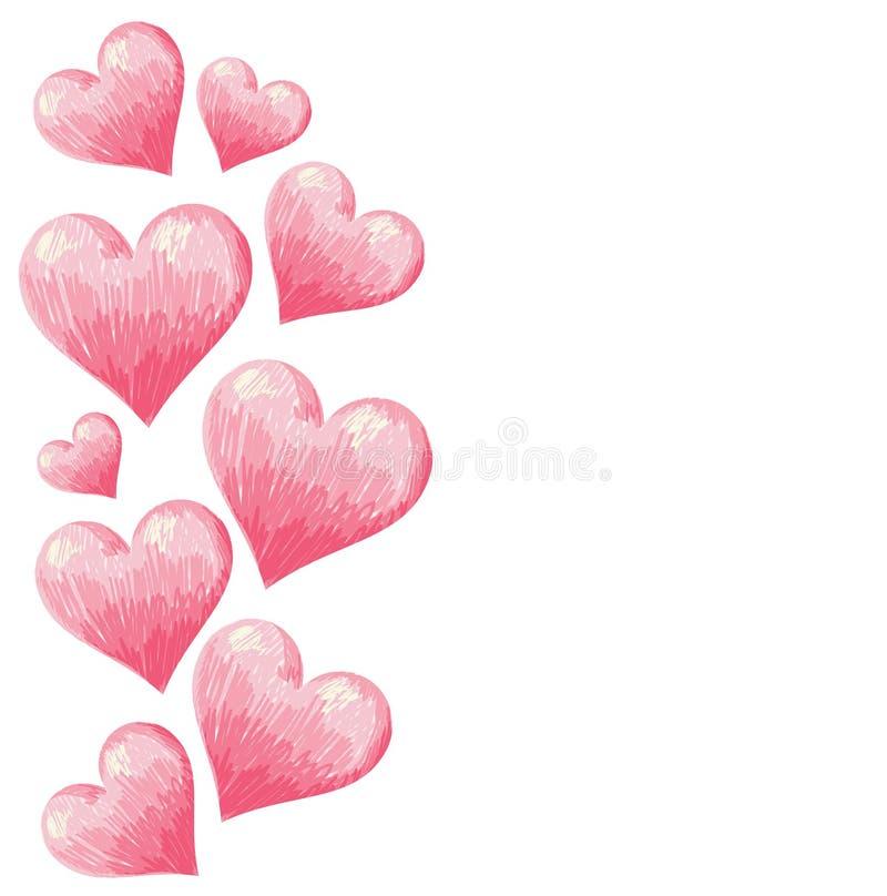 Hand gezeichnete Valentinsgrußinnergrenze lizenzfreie abbildung
