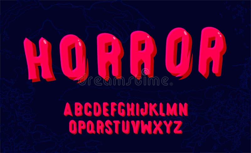 Hand gezeichneter Schrifttyp Editable Vektor des modernen mutigen Alphabetes stock abbildung