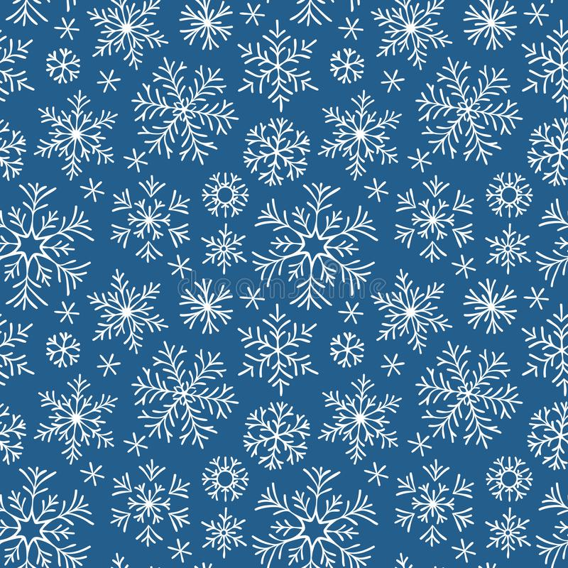 Hand gezeichneter Weihnachtshintergrund Nahtloses Muster vektor abbildung