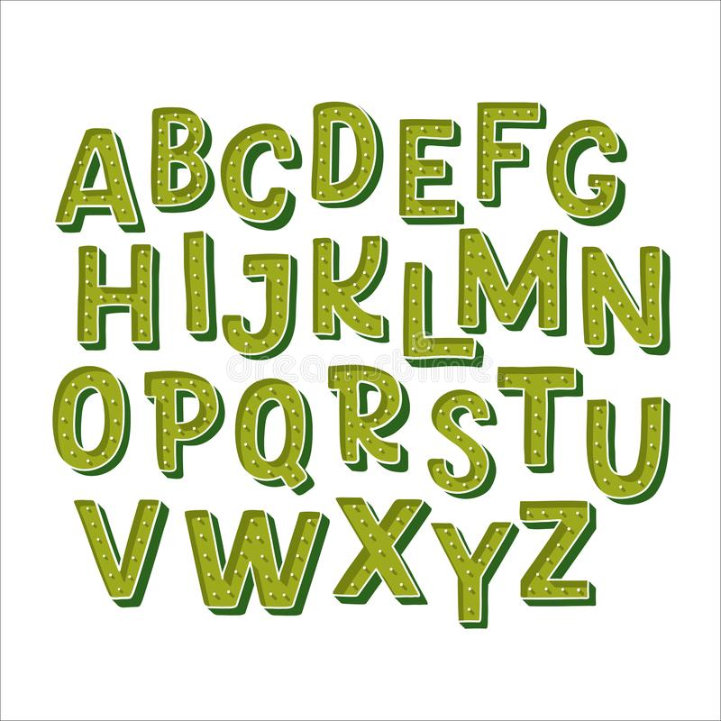 Hand gezeichnetes Alphabet stock abbildung