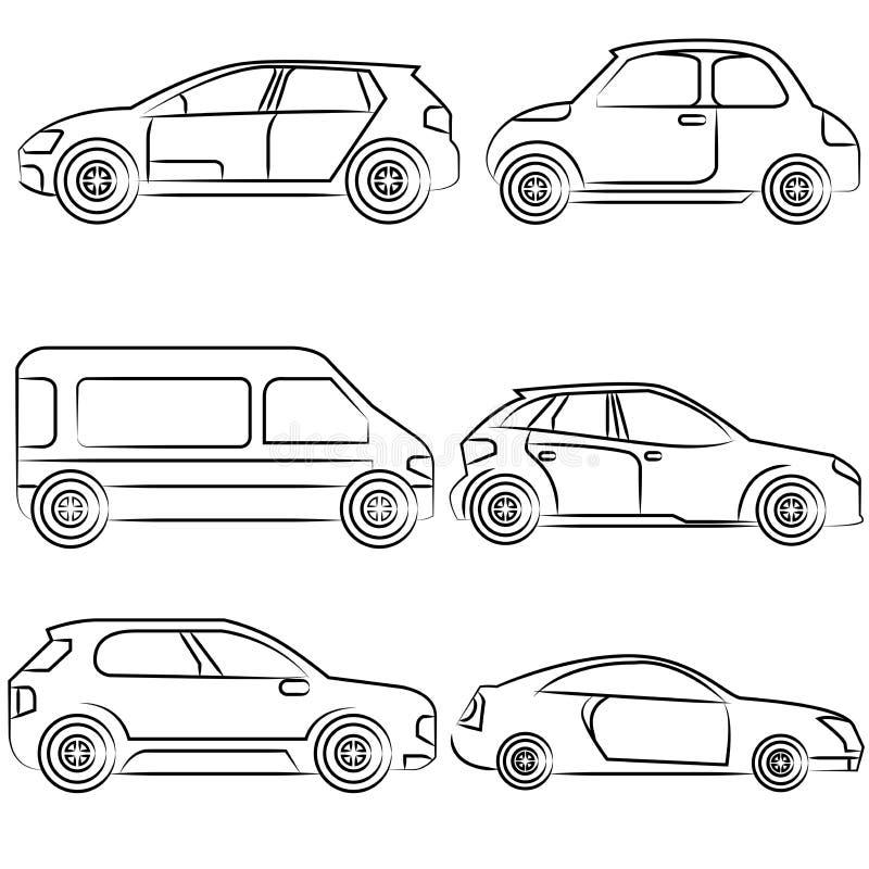 Hand gezeichnetes Auto stock abbildung