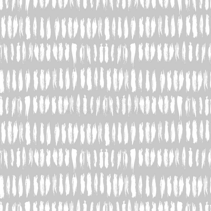 Hand gezeichnetes gestreiftes nahtloses Muster lizenzfreie abbildung