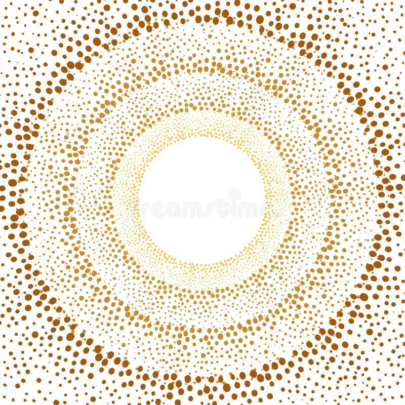 Hand gezeichnetes Gold punktiert Hintergrund lizenzfreie abbildung