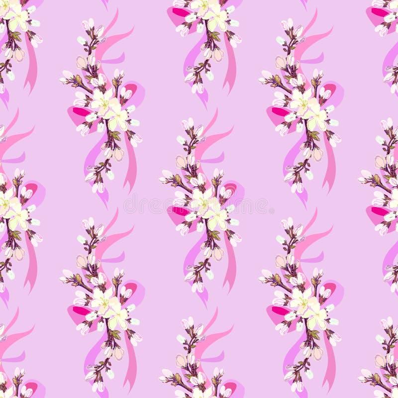 Hand gezeichnetes Kirschblüte-Design stock abbildung
