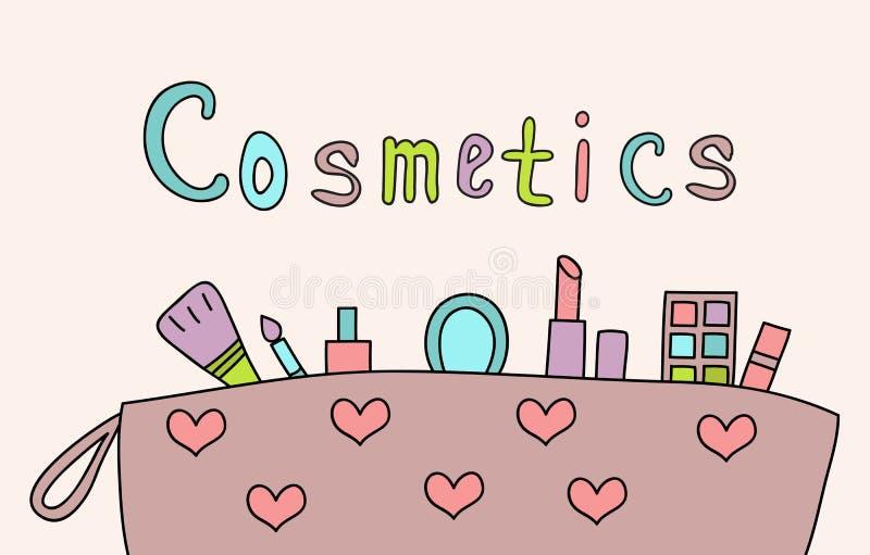 Download Hand Gezeichnetes Make-up Und Kosmetikfarbgekritzel Stock Abbildung - Illustration von frau, bild: 90225344