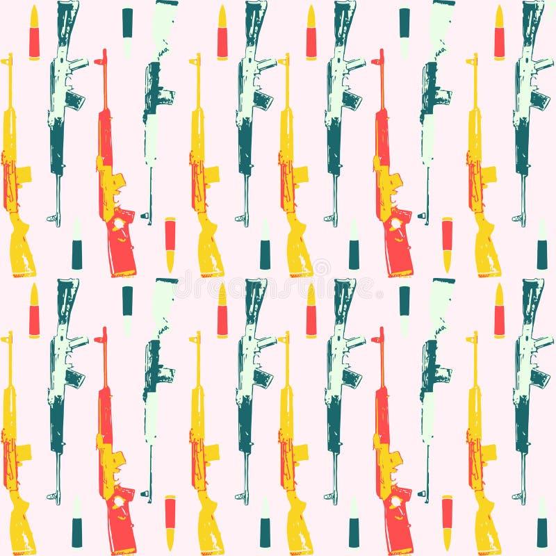 Hand gezeichnetes Pop-Arten-Muster mit colorfull lizenzfreie stockfotos