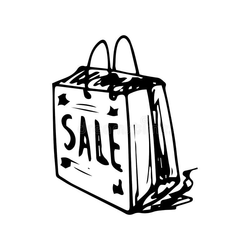 Hand gezeichnetes Taschengekritzel Skizzenartikone Eingelassenes Genua, Italien Getrennt auf wei?em Hintergrund Flaches Design Au stock abbildung