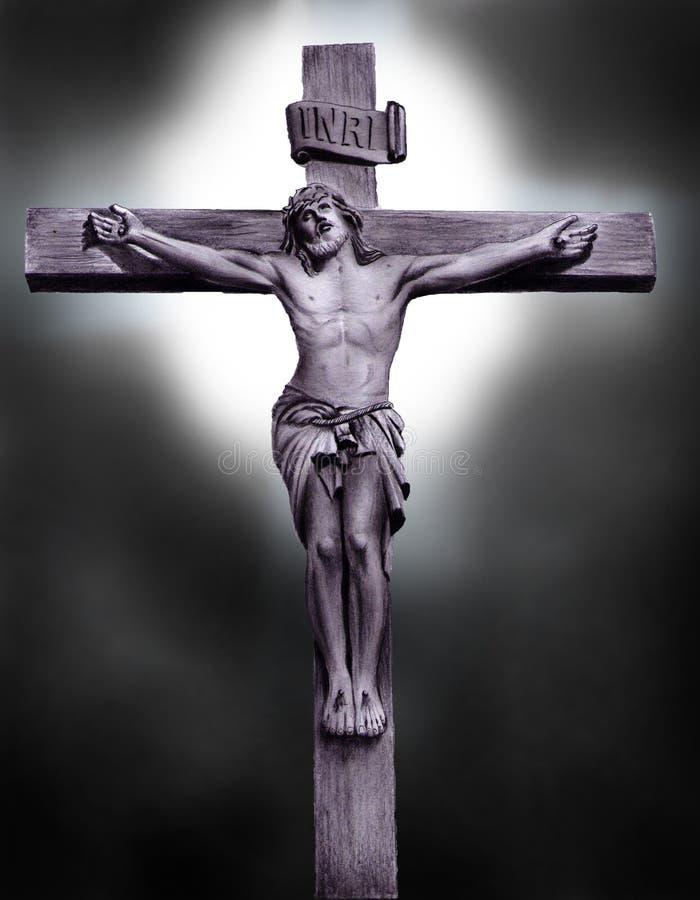 Hand gezogener Jesus Christus stockfotos