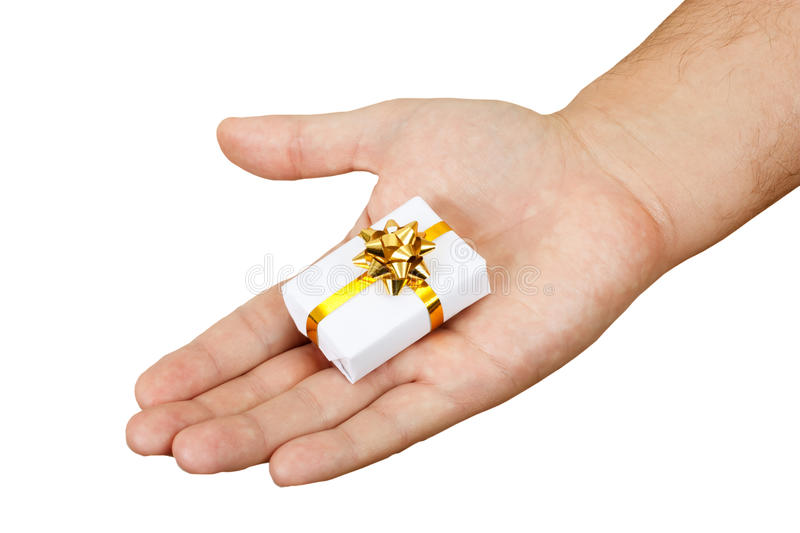 Download Hand with a gift stock image. Image of present, event - 17005799