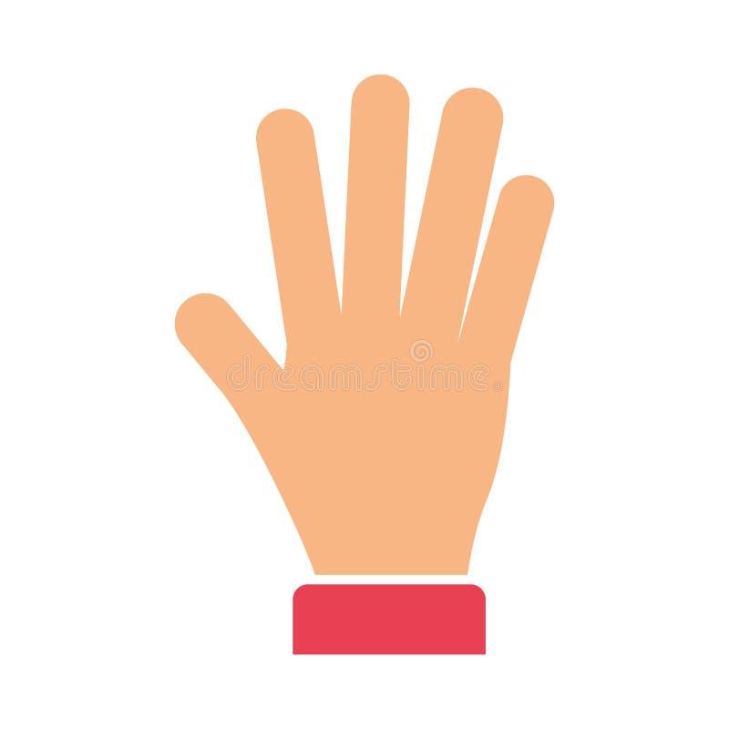 Hand give me five. Vector illustration design royalty free illustration