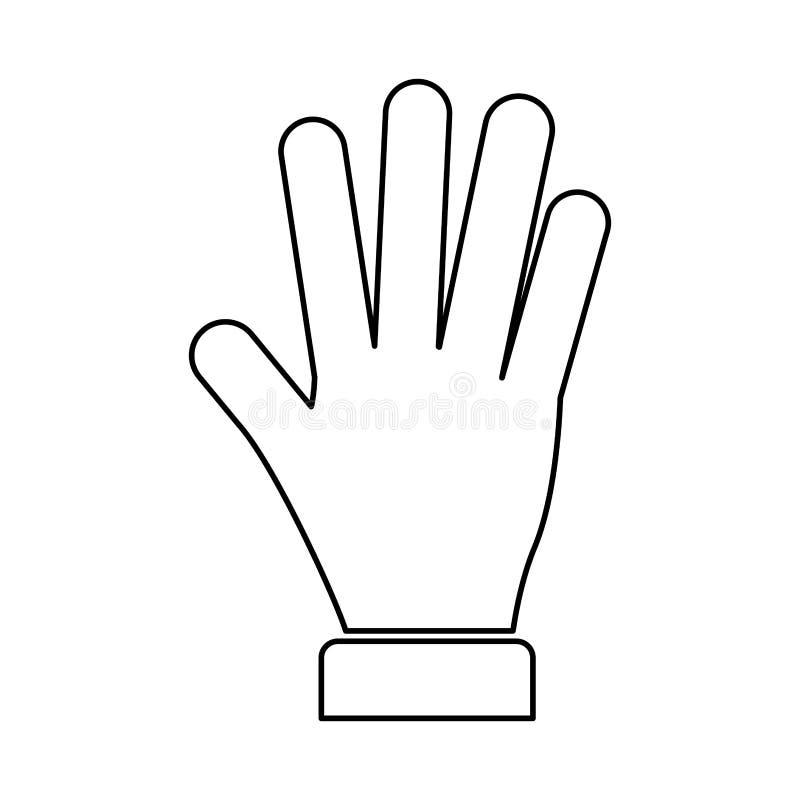 Hand give me five. Vector illustration design stock illustration