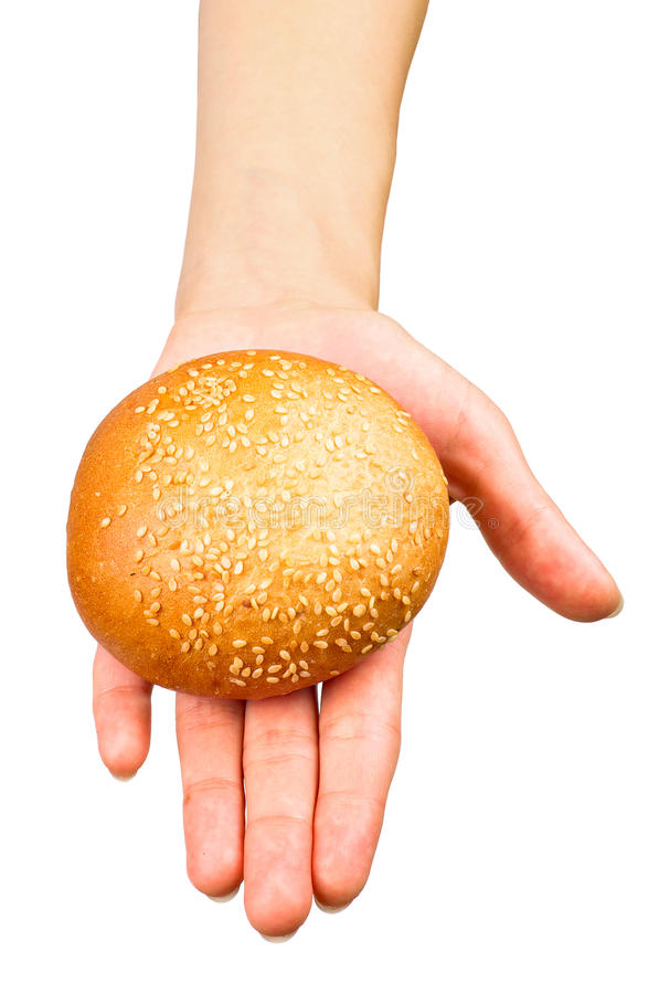Download Hand giving a bun stock image. Image of baked, hand, roll - 18164831
