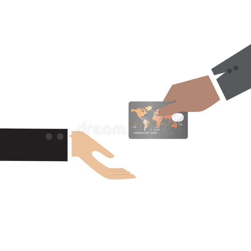 Hand, Giving Credit Card To Other Hand Royalty Free Stock Photo
