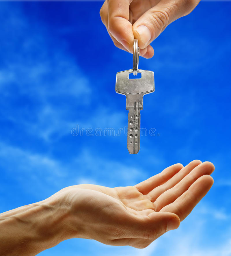 Download Hand giving key stock image. Image of automobile, people - 13711813
