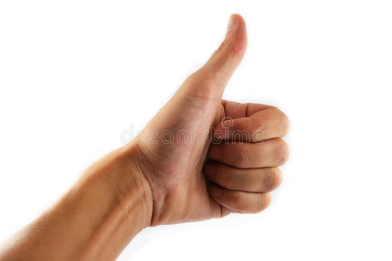 Hand Giving Like royalty free stock photos