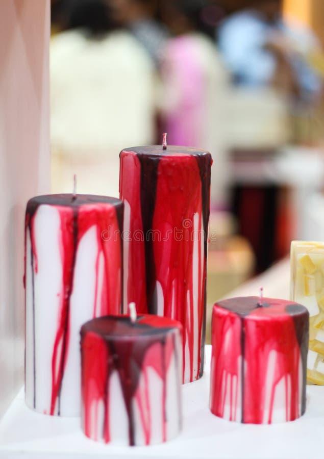 Hand - gjord stearinljus arkivfoto