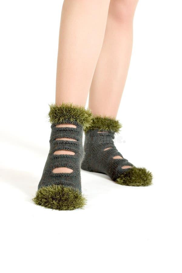 hand - gjorda sockor arkivfoto