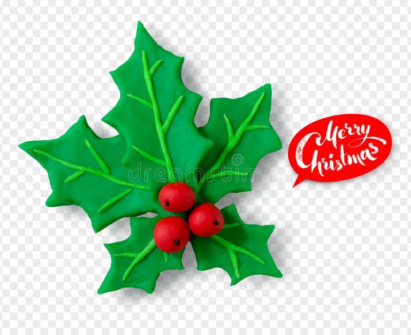 Hand - gjort plasticinediagram av juljärnek stock illustrationer