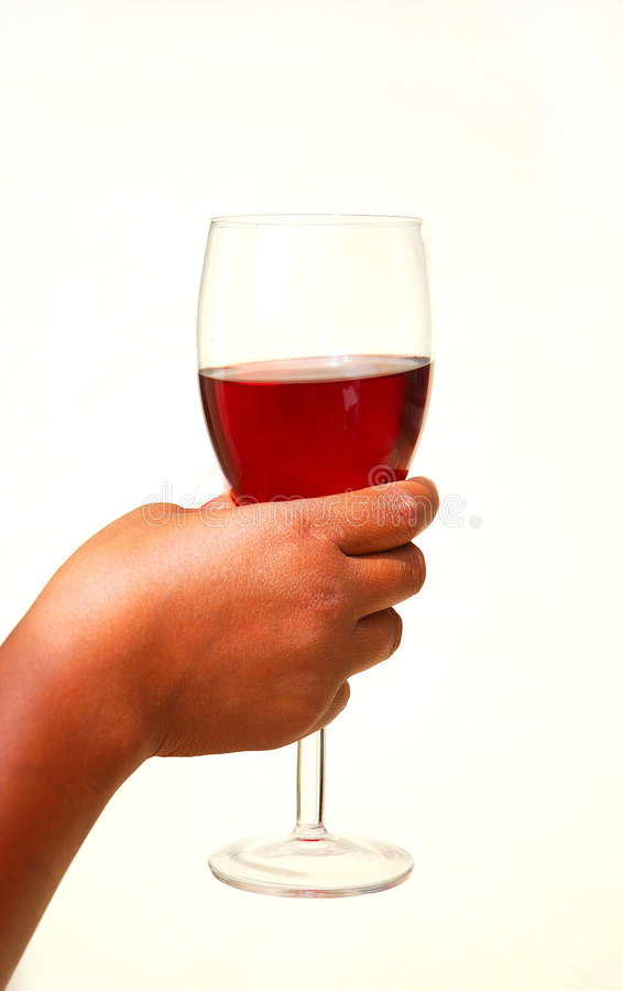 Download Hand With Glass Of Red Wine Stock Photo - Image: 8162566