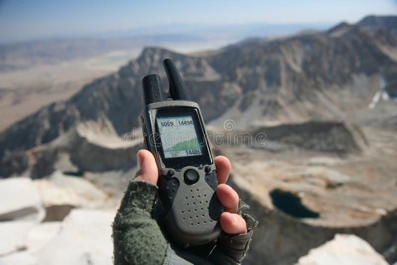 Hand-GPS lizenzfreies stockfoto