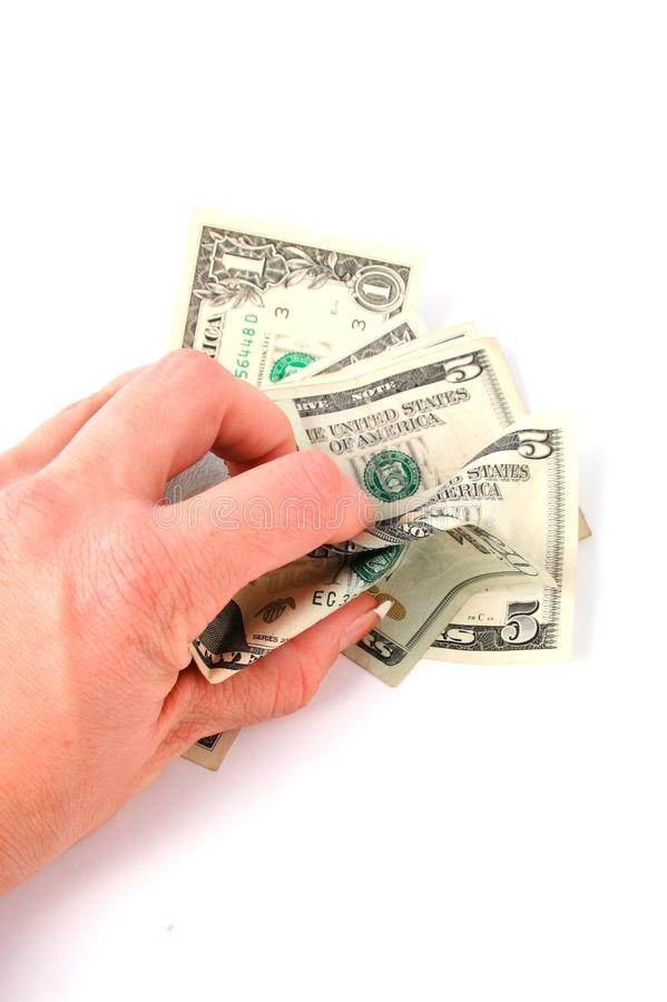 Hand Grabbing Money royalty free stock image