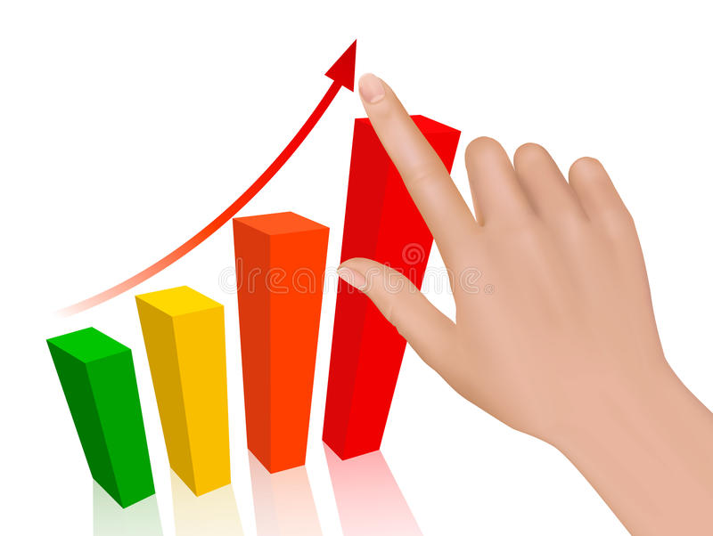 Download Hand With Graph. Concept Of Success. Stock Vector - Image: 22506704