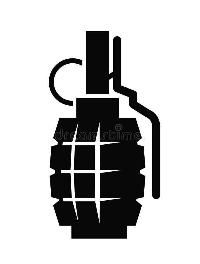 hand grenade stock vector illustration of hurt military 47034636 rh dreamstime com Hand Gestures Side Hand Vector