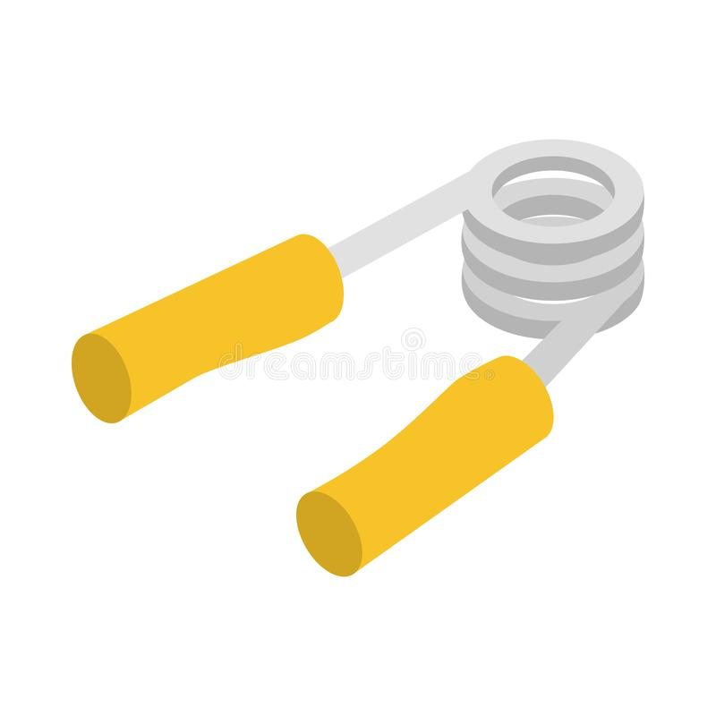 Hand grip exerciser or trainer icon. In isometric 3d style on a white background stock illustration