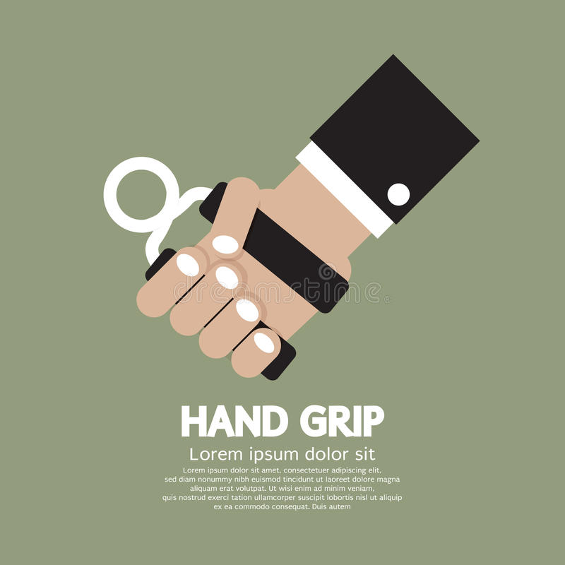 Hand Grip Graphic. Vector Illustration royalty free illustration