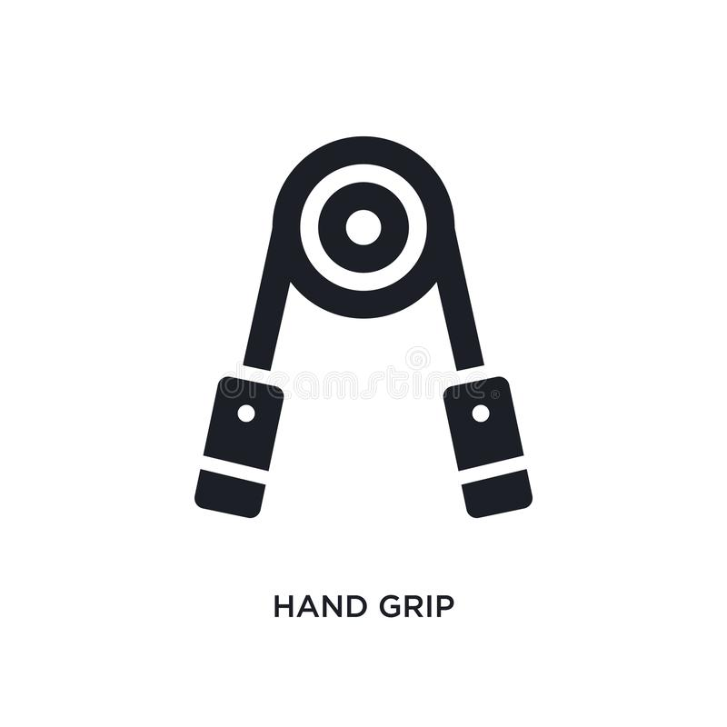 hand grip isolated icon. simple element illustration from gym equipment concept icons. hand grip editable logo sign symbol design vector illustration