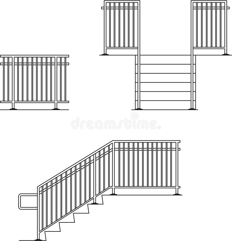 Download Hand Guard Rail stock illustration. Image of senior, bracket - 8158385
