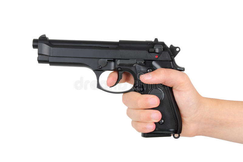 Download Hand with gun stock photo. Image of crime, caliber, death - 27071544