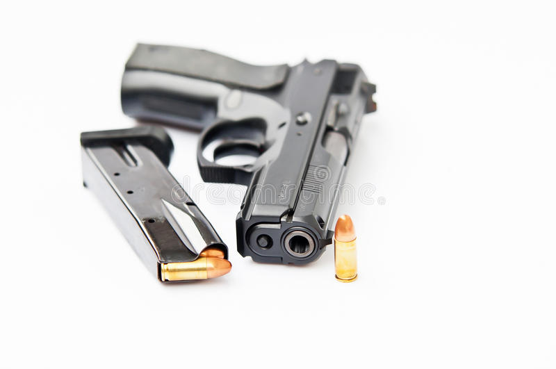 Download Hand gun and magazine stock image. Image of automatic - 22859563