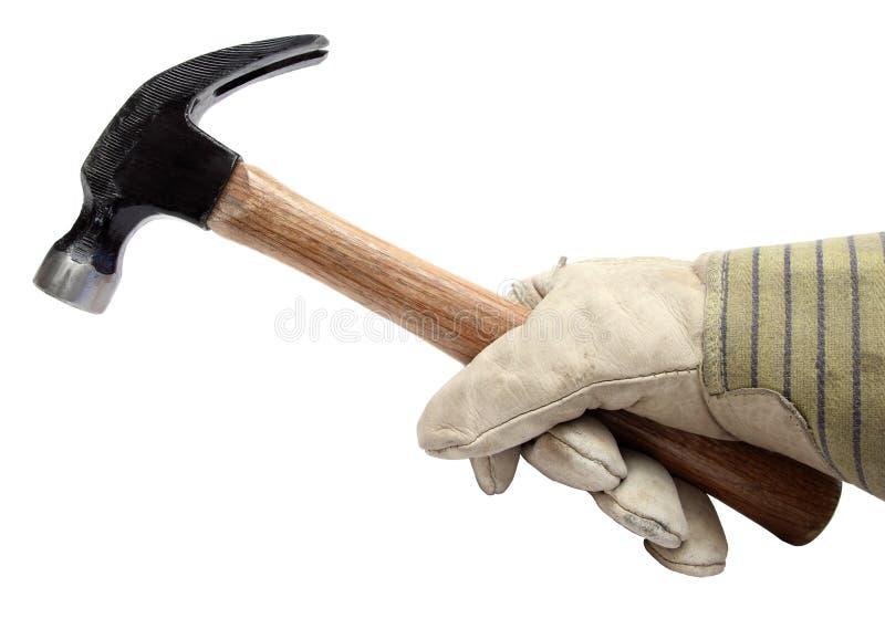 Hand hammer royalty free stock photography