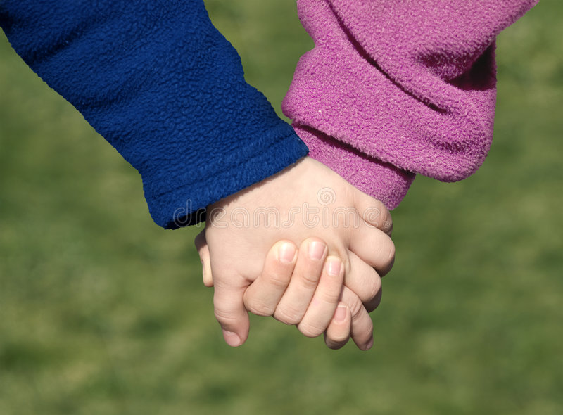 Hand in hand royalty-vrije stock fotografie
