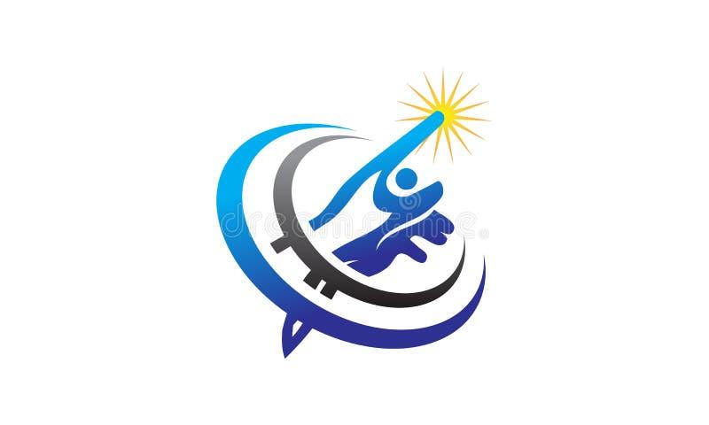 Hand healing solution. Logo Design Template Vector royalty free illustration