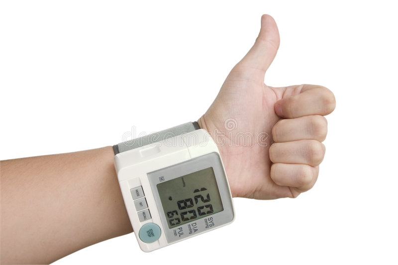 Download Hand Of Healthy Person With Tonometer Stock Image - Image: 5201691