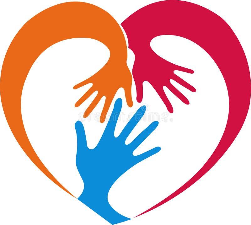 Hand heart vector illustration