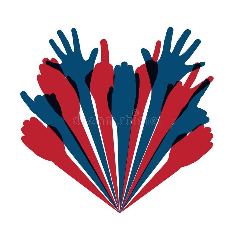 Download Hand heart stock vector. Illustration of outline, illustration - 26841461