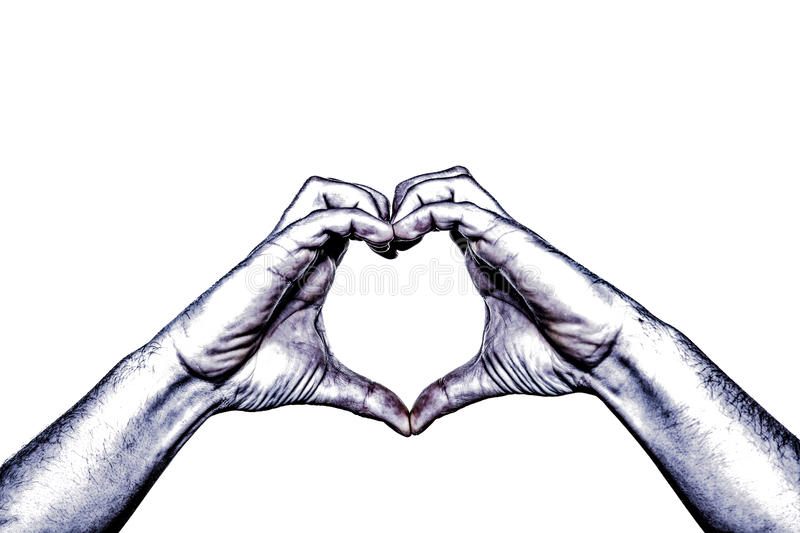 Hand heart HDR royalty free stock images