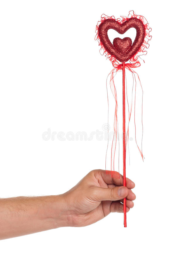 Download Hand with heart on a stick stock photo. Image of hold - 27008608