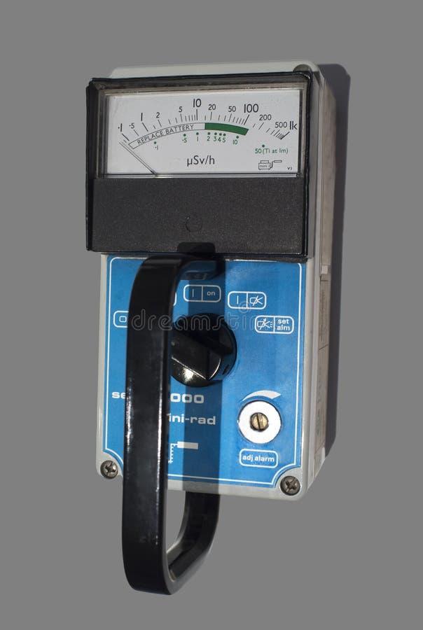 Hand-held radiation survey instrument stock image