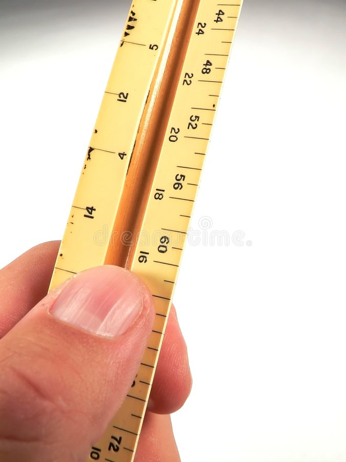 Hand held Ruler royalty free stock image
