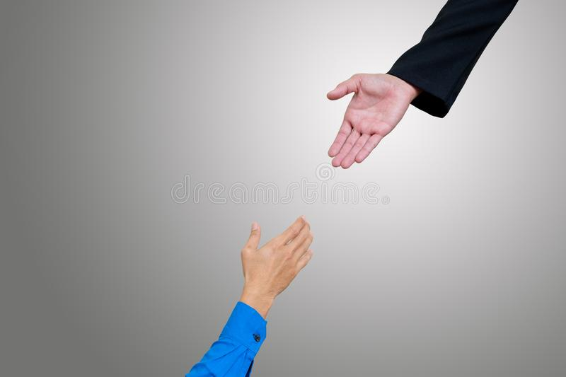 Hand for help. royalty free stock image