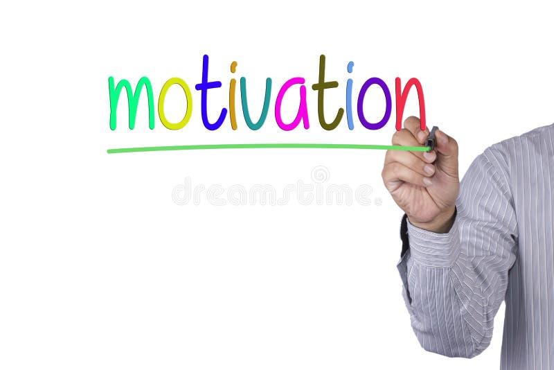 Hand het schrijven Motivatie met teller colorfull royalty-vrije stock foto