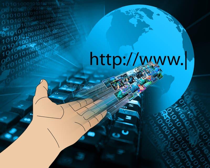 Hand of high technology stock photos