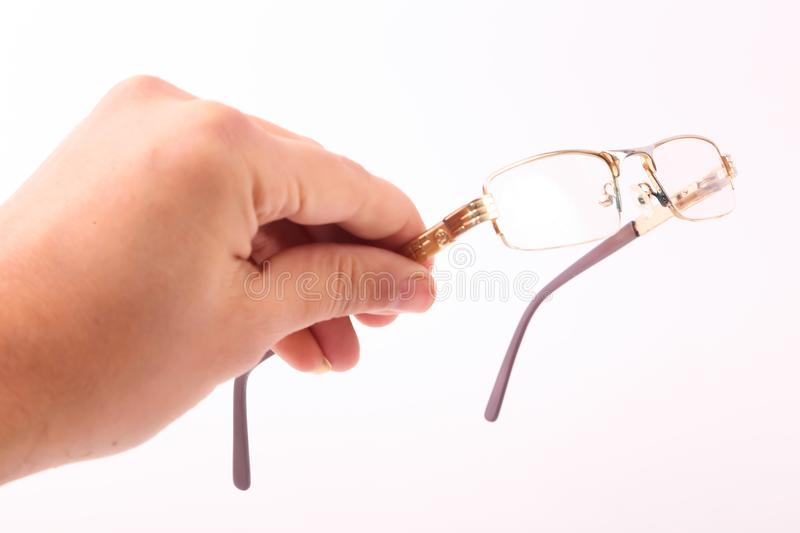 Hand Hold Glasses stock photography