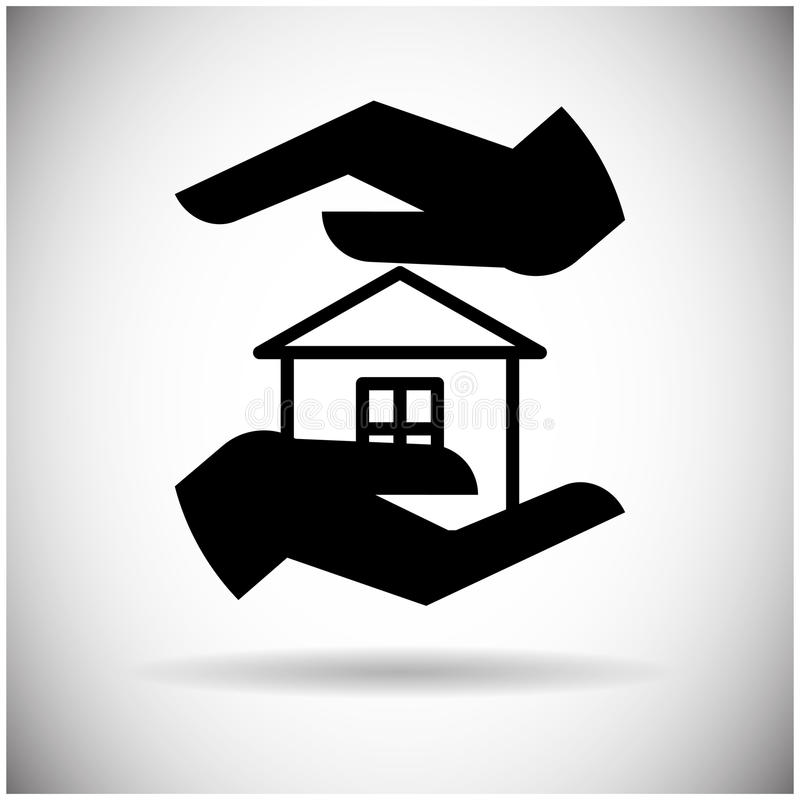 Hand Hold House Web Icon. Flat Vector Illustration vector illustration