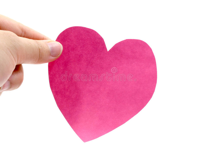 Download A hand hold a pink heart stock photo. Image of greeting - 22799774